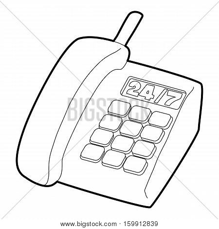 Support phone icon. Outline illustration of support phone vector icon for web