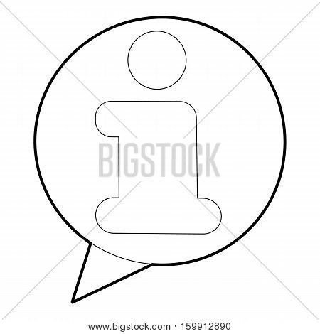 Information icon. Outline illustration of information vector icon for web