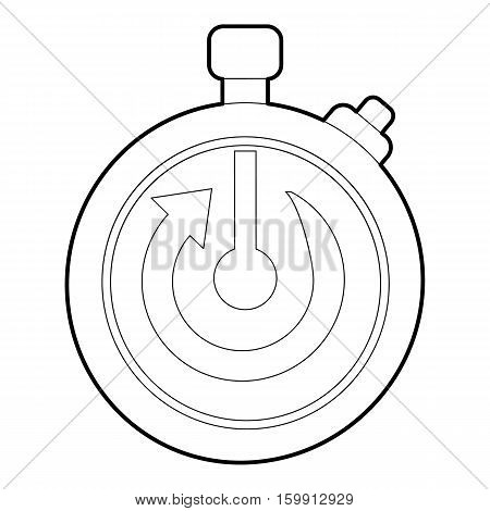 Stopwatch icon. Outline illustration of stopwatch vector icon for web