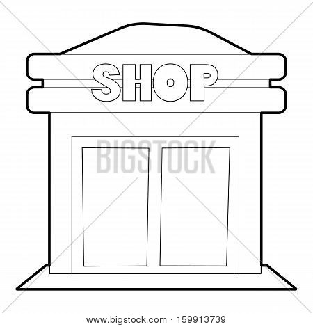 Shop icon. Outline illustration of shop vector icon for web