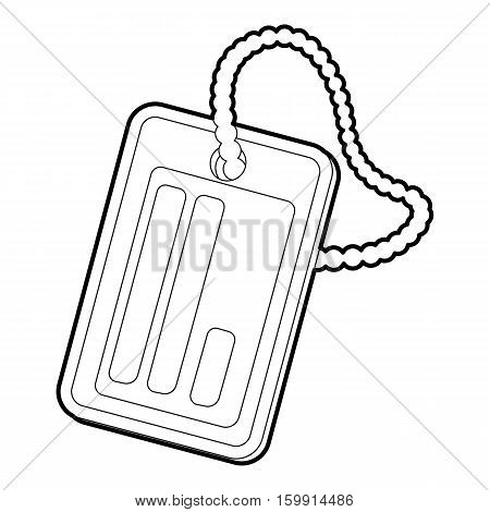 Identification army badge icon. Outline illustration of identification army badge vector icon for web