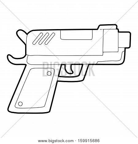 Gun icon. Outline illustration of gun vector icon for web