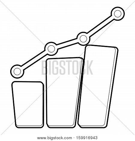 Diagram icon. Outline illustration of diagram vector icon for web