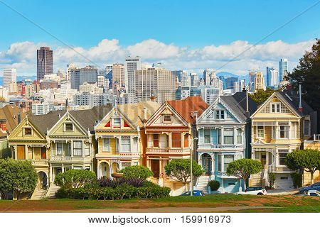 San Francisco, Usa - October 29: Famous Painted Ladies Of San Francisco, California, Usa On October