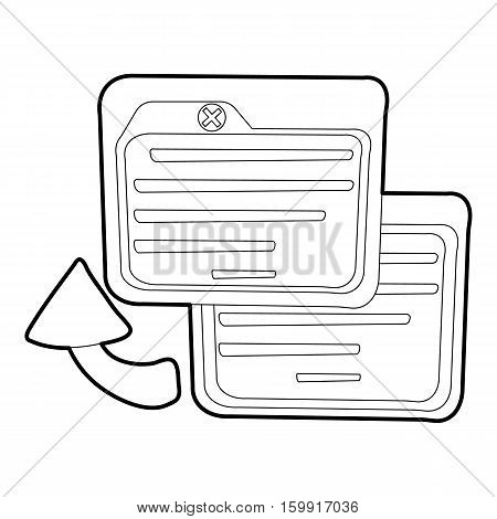 Business card icon. Outline illustration of business card vector icon for web