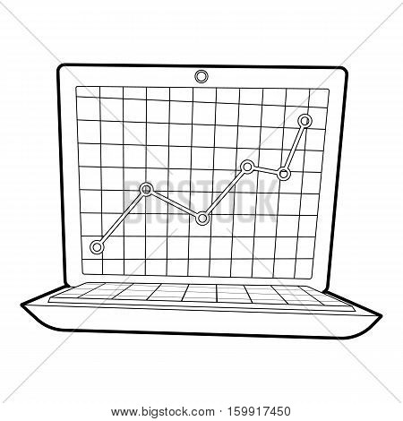 Graphic icon. Outline illustration of graphic vector icon for web