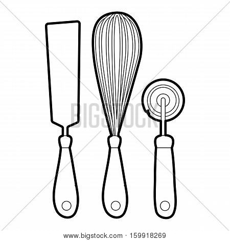 Kitchenware icon. Outline illustration of kitchenware vector icon for web
