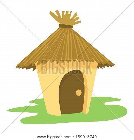 Hut icon. Cartoon illustration of hut vector icon for web