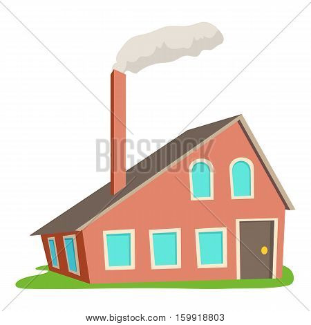 House with chimney icon. Cartoon illustration of house with chimney vector icon for web