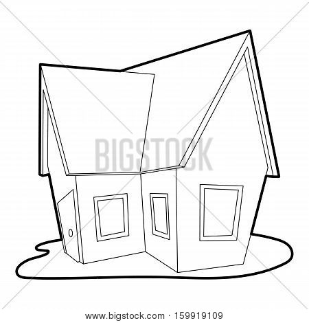 Cottage icon. Outline illustration of cottage vector icon for web