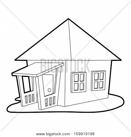 Bungalow icon. Outline illustration of bungalow vector icon for web