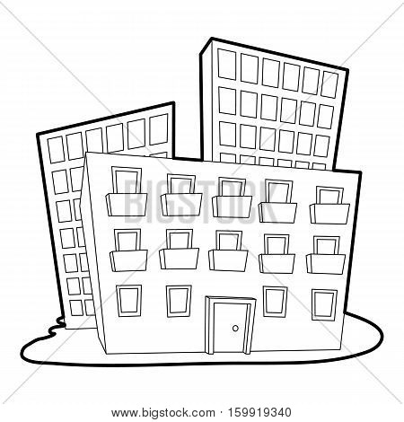 Administrative building icon. Outline illustration of administrative building vector icon for web
