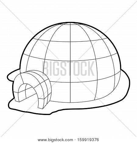 Igloo icon. Outline illustration of igloo vector icon for web