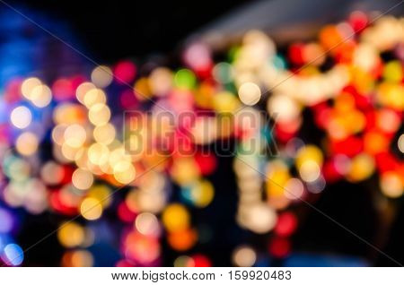 Abstract colorful bokeh , christmaslight background .