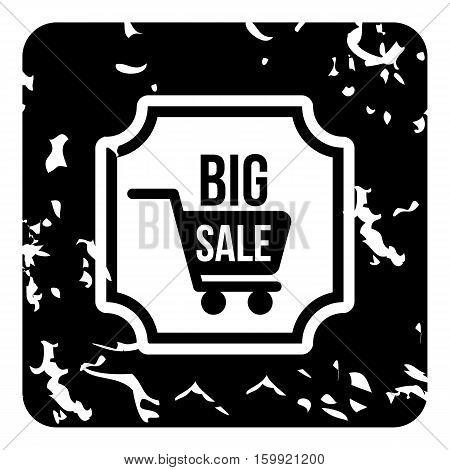 Total sale icon. Grunge illustration of total sale vector icon for web