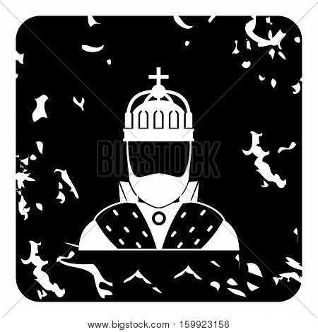 King icon. Grunge illustration of king vector icon for web