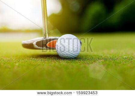 Golf equipment, golf ball and stick