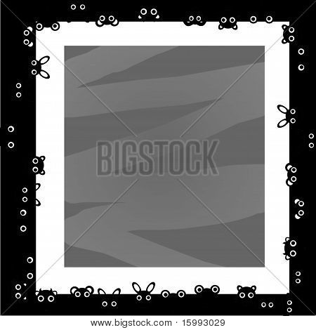 Black and white animal frame