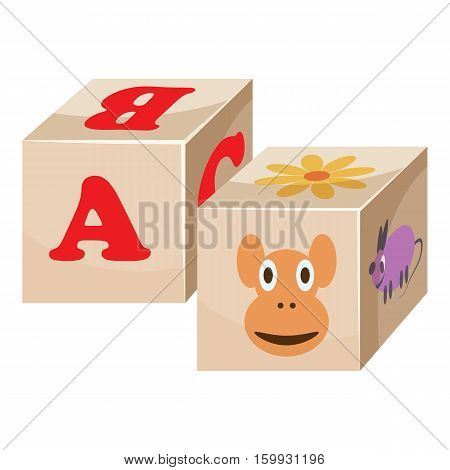 Baby cubes icon. Cartoon illustration of baby cubes vector icons for web