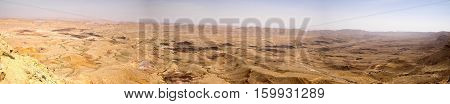 Wide Angle Panorama Of Desert Landscape