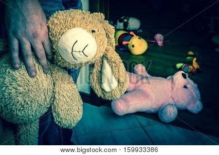Pedophile With Cuddly Toy Trying To Steal Child