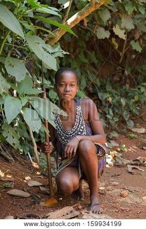 Portrait Of Young Malagasy Countryside Woman