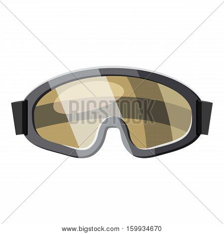Protective goggles for paintball icon. Cartoon illustration of protective goggles for paintball vector icon for web