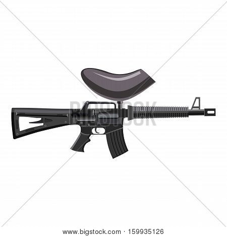 Paintball gun icon. Cartoon illustration of paintball gun vector icon for web