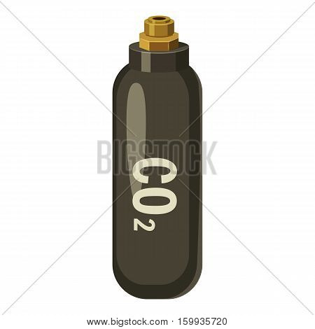 Bottle with CO2 gas icon. Cartoon illustration of bottle with CO2 gas vector icon for web