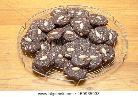 Freshly Baked Homemade Almond Cookies