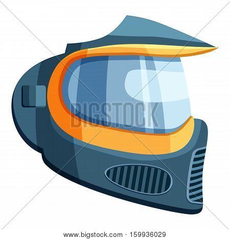 Mask for paintball icon. Cartoon illustration of mask for paintball vector icon for web