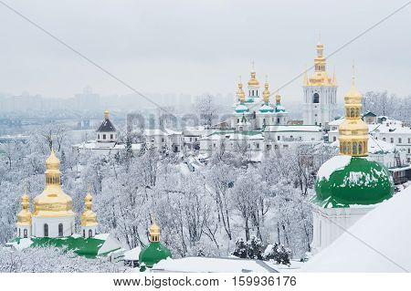 A View On Kiev Monastery Of The Caves In Winter