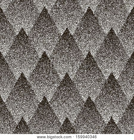 Dotted vector seamless geometric pattern a white background. Halftone effect.