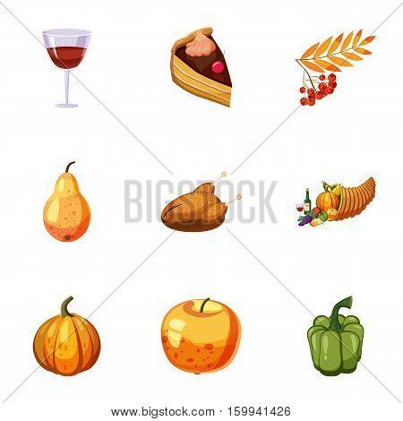 Public holiday of USA icons set. Cartoon illustration of 9 public holiday of USA vector icons for web