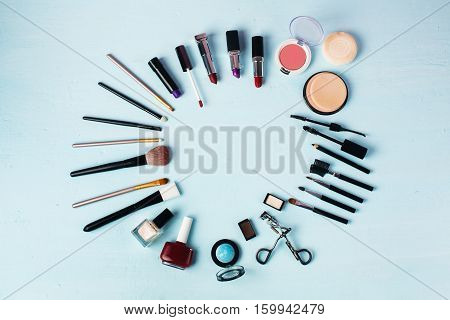 Various Make-up Products Expended As Round