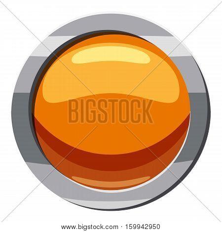 Button icon. Cartoon illustration of button vector icon for web