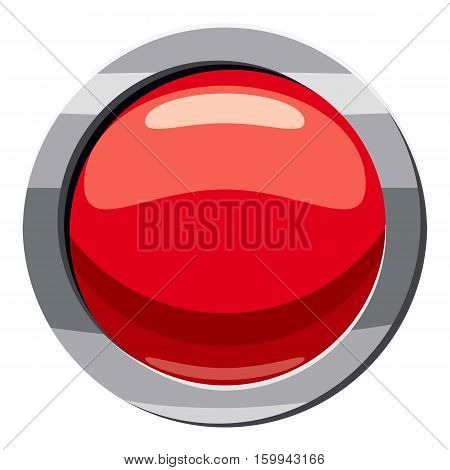 Red button icon. Cartoon illustration of red button vector icon for web