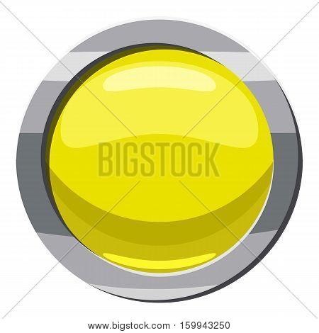 Round button icon. Cartoon illustration of round button vector icon for web