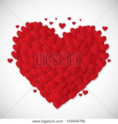 Valentine's Day Heart Symbol. Love and Feelings Background Design. Vector illustration EPS10