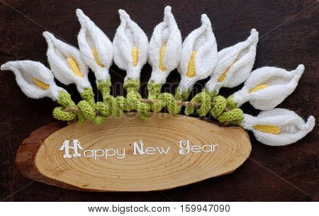 Happy New Year Background, Arum Lily Flower