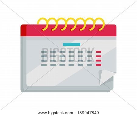 Calendar icon isolated on white. Calendar app icon in flat style design. Calendar icon page, monthly calendar, date and time, web organizer application, button organize today. Vector illustration