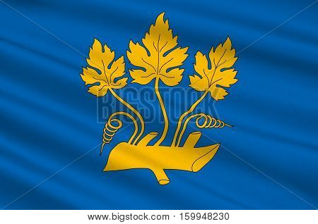 Flag of Stavanger is a city and municipality in Norway. 3d illustration