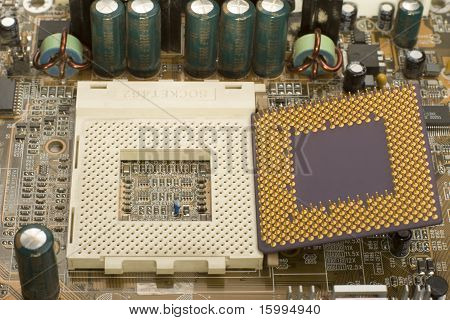 Microprocessor And Socket In Motherboard