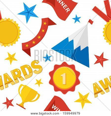 Awards Seamless Pattern Color