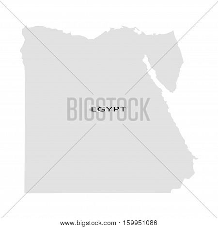 Territory of Egypt on a white background