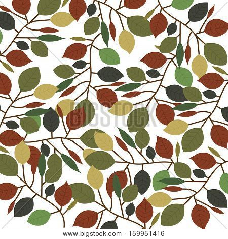 Leaves background icon. Plant floral garden decoration and ornament theme. Isolated design. Vector illustration