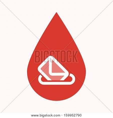 Isolated Blood Drop With  A Ballot Box