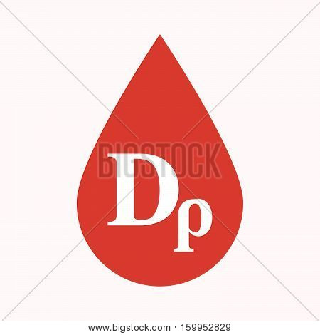 Isolated Blood Drop With A Drachma Currency Sign