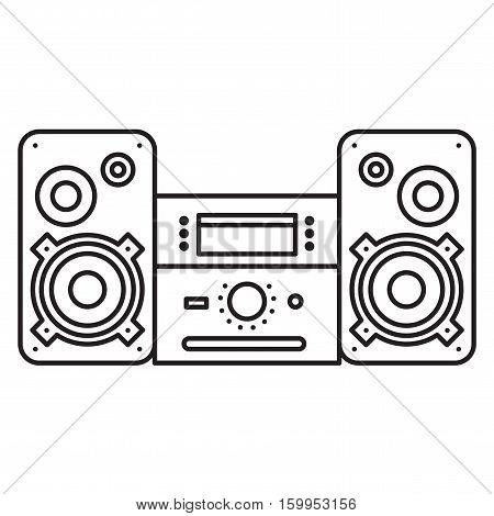 Sound System icon. Music Center Vector illustration on white background. Flat Vector icon