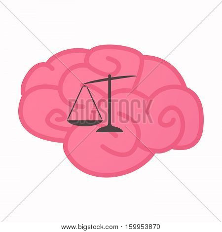 Isolated Brain With  A Briefcase